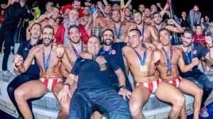 Vaterpolisti Olimpijakosa, šampioni Evrope 2018.