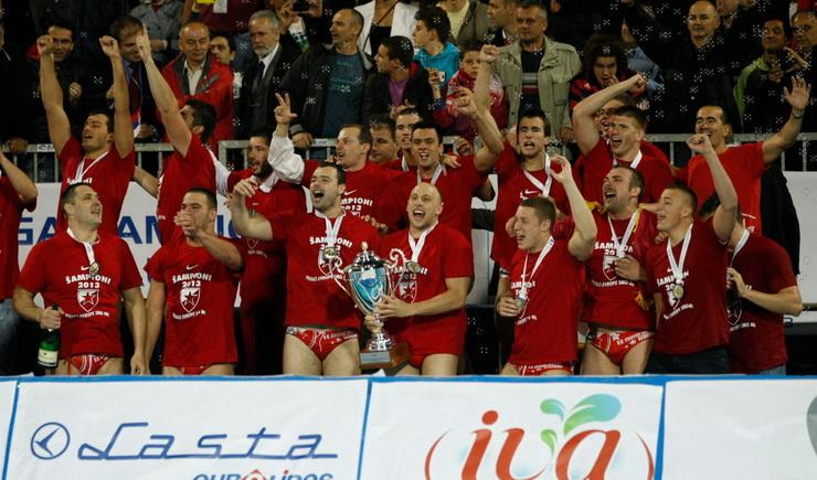 Vaterpolisti Crvene zvezde šampioni Evrope 2013.