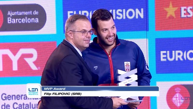 Filip Filipović, MVP Evropskog prvenstva u Barseloni