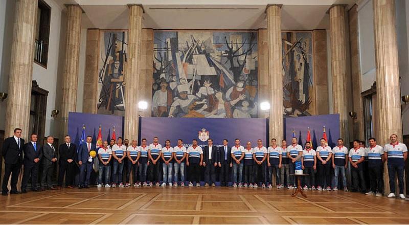 Vaterpolisti Srbije kod predsednika