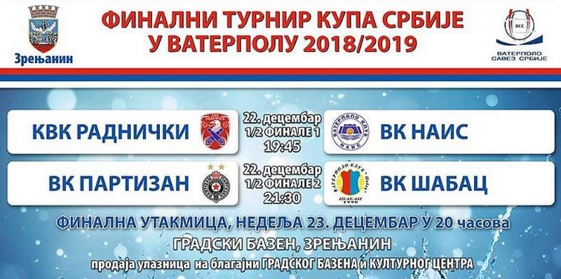 Vaterpolo Kup Srbije 2018
