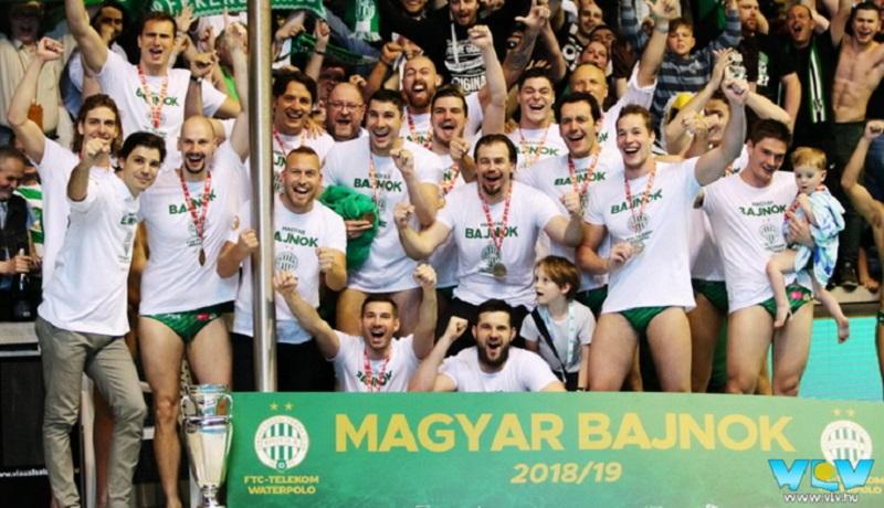 Vaterpolo klub Ferencvaroš šampion Mađarske 2019.