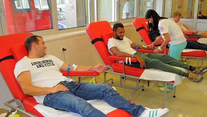 KVK Radnički, davanje krvi
