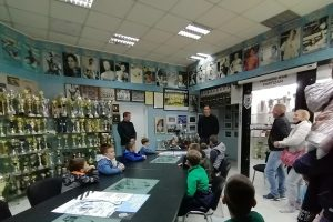 Poseta vrtica VK Partizan trofejnoj sali